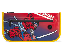 Annie Printed Coated Canvas Clutch Rot