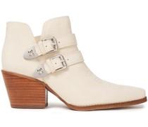 Windsor Ankle Boots aus Leder mit Schnalle