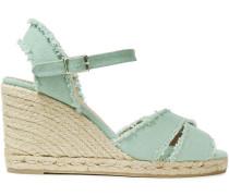 Bromelia Cotton-canvas Espadrille Wedge Sandals