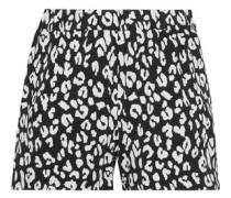 Leopard-print stretch-jersey shorts
