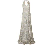 Lace Halterneck Gown Himmelblau