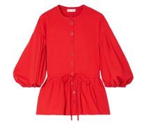 Ferrah Bluse aus Twill aus Einer Baumwollmischung mit Schößchen