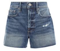 Le Bridgette Distressed Denim Shorts