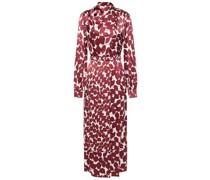Josefina Wrap-effect Printed Hammered Silk Midi Dress