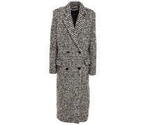 Huaraz Double-breasted Houndstooth Wool-blend Bouclé Coat