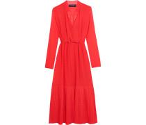 Alexia Swiss-dot Chiffon Maxi Dress Rot