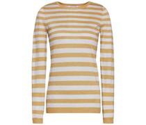 Pullover aus Stretch-strick mit Streifen mit Metallic-effekt