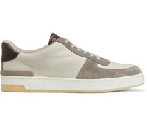 Rendel Leather And Suede Sneakers