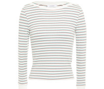 Striped Ribbed Jersey Top