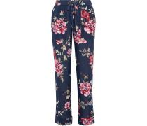 Daltona Floral-print Silk Wide-leg Pants