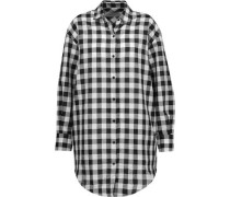 Davy checked cotton and linen-blend shirt