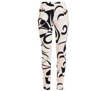 Printed Stretch-crepe Skinny Pants