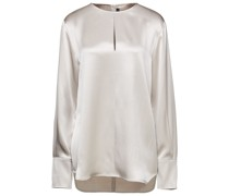 Ian Cutout Silk-satin Blouse
