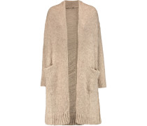 The Long Slash Pocket Distressed Alpaca-blend Cardigan Beige