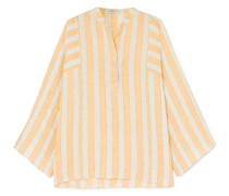 Angelique Metallic Striped Ramie Blouse