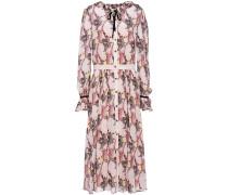 Maggie Bow-detailed Printed Georgette Midi Dress