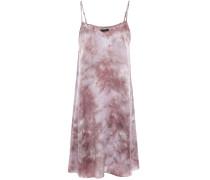 Tie-dyed Silk-satin Mini Slip Dress
