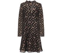 Molly Tie-neck Fil Coupé Georgette Mini Dress