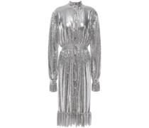 Ruffle-trimmed Chainmail Midi Dress