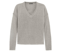 Silk-blend Open-knit Sweater Champignon