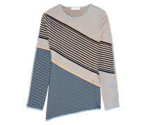 Jade Textured Cotton-blend Sweater Himmelblau