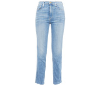 Le Garcon Distressed High-rise Straight-leg Jeans