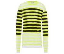 Striped Linen-blend Sweater