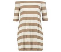 Off-the-shoulder striped stretch-jersey mini dress