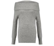 Draped Cashmere And Wool-blend Sweater Hellgrau