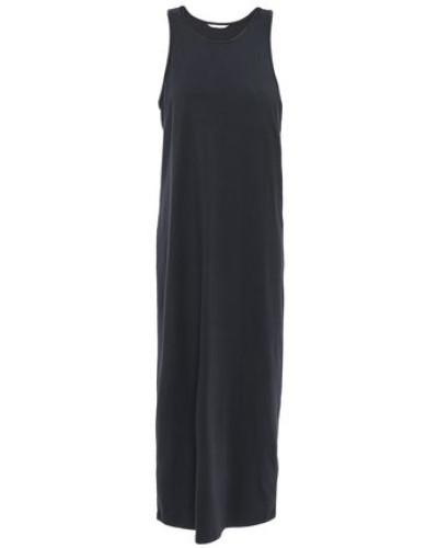 Woman Gathered Jersey Midi Dress Black