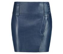 Leather Mini Skirt Rauchblau