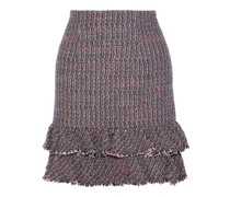 Ruffled Cotton-blend Bouclé-tweed Mini Skirt