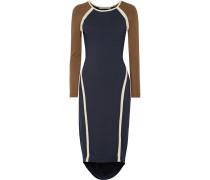 Freje Color-block Asymmetric Stretch-modal Jersey Dress Mitternachtsblau