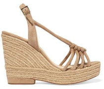 Colette knotted suede wedge sandals