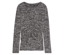 Twist-front Marled Knitted Sweater