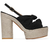 Abbey canvas platform sandals