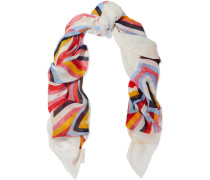 Printed Linen-blend Scarf Mehrfarbig