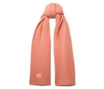 Bansy Appliquéd Ribbed Wool Scarf Peach Size --