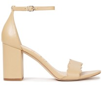 Odila Scalloped Leather Sandals