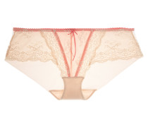 Sofia Lace And Tulle Briefs Pastellrosa