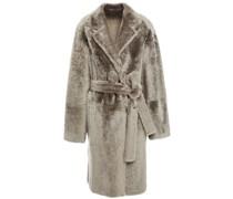 Reversible Leopard-print Shearling Coat
