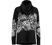 Ahiga Intarsia-knit Merino Wool Turtleneck Sweater Schwarz