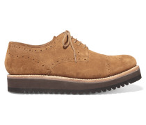 Lucy Suede Brogues Braun