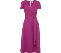 Jacaranda Wrap-effect Crepe Midi Dress