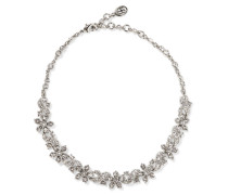 Silver-plated Crystal Choker Silber