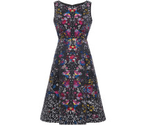 Woman Talon Metallic Floral-jacquard Dress Black