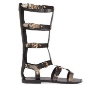 Mykonos studded leather sandals
