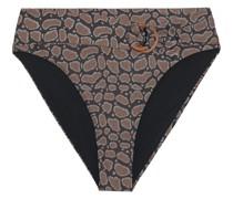 Anais Halbhohes Bikini-höschen mit Schlangenprint und Gürtel