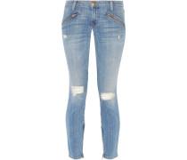The Silverlake Distressed Low-rise Skinny Jeans Heller Denim