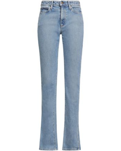 Mid-rise Straight-leg Jeans Light Denim  8